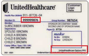 United Healthcare Policy Number On Id Card